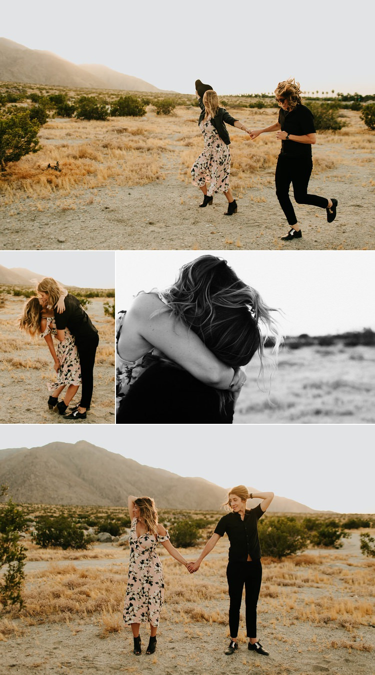 Same Sex Engagement Photos Palm Springs