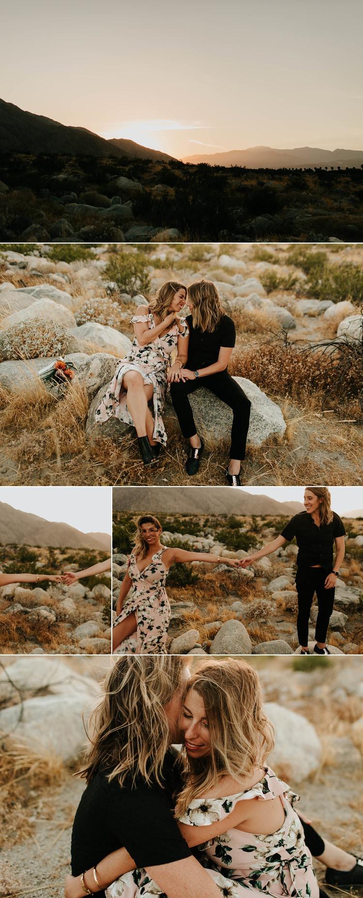 Same Sex Engagement Photos Palm Springs