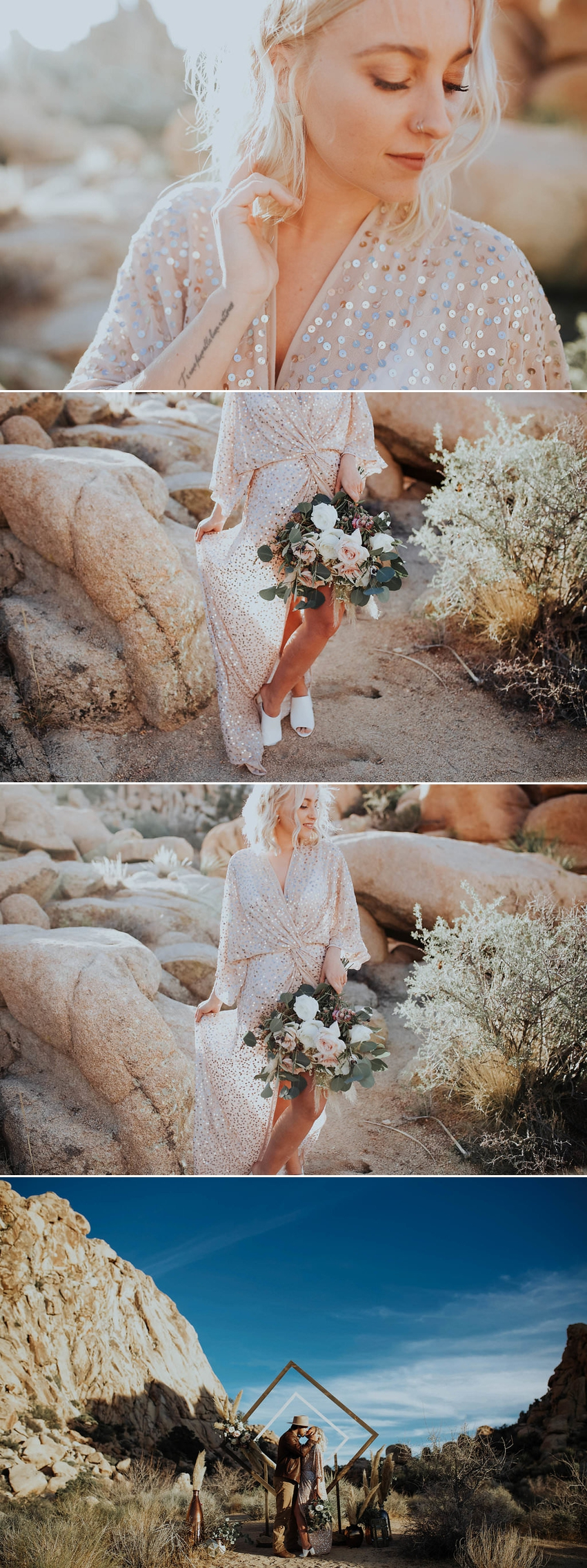 Boho Joshua Tree Stylized Elopement